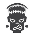 frankenstein glyph icon halloween and scary vector image