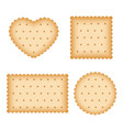 cartoon biscuit eating pastry breakfast cookies vector image
