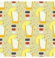 Seamless pattern with hand drawn mexican vector image