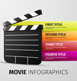 movie infographics vector image