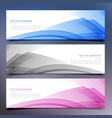 abstract banners and headers set vector image vector image