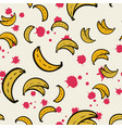 abstract pattern seamless yellow bananas vector image