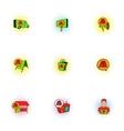 Advertising icons set pop-art style