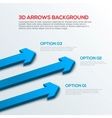 Arrows 3D background infographic vector image vector image