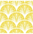 Art deco geometric pattern in bright yellow vector image vector image