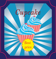 banner for the Cafe with a few muffins vector image vector image