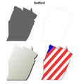 Bedford Map Icon Set vector image vector image