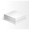 Blank box over white background vector image vector image