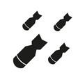 bombing aviation bomb icon vector image