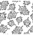 botanical seamless endless pattern of green curley vector image