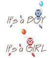 BOY GIRL vector image
