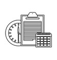 business and office elements in black and white vector image