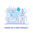 businessman configures the organizer project vector image vector image