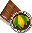 chocolate with seal of Quality - quality label vector image vector image