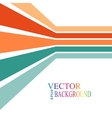 Colorful stripes with 3 d dimensional effect vector image vector image