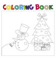 coloring book christmas thematics vector image