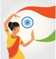 colourful culture India with vector image