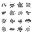 comic sound cloud set monochrome vector image vector image