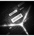 design word cloud concept graphic tag collection vector image vector image