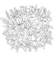 floral composition vector image vector image