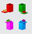 Four gift boxes and covers with bows vector | Price: 1 Credit (USD $1)