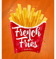 French fies color vector image vector image