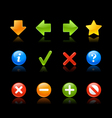 Gel Icon Navigation Black vector image