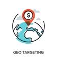 geo targeting vector image vector image