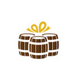 gift beer logo icon design vector image