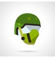 Green sports helmet icon vector image
