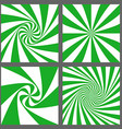 Green white spiral and starburst background set vector image vector image