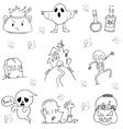 Halloween doodle set flat vector image