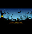 happy halloween seamless creepy cemetery vector image vector image