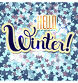 Hello Winter vector image vector image