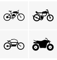Hybrid bikes and atv vector image vector image
