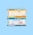 isolated abstract airline travel boarding vector image