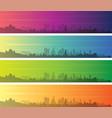 los angeles multiple color gradient skyline banner vector image