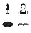 mannequin boy and other web icon in black style vector image vector image