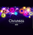 merry christmas and happy new 2021 yeardeisgn vector image vector image