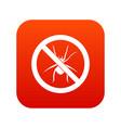 no spider sign icon digital red vector image vector image