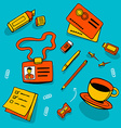 office accessories and different objects vector image vector image