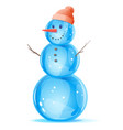 one snowman vector image vector image