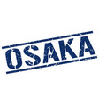 osaka blue square stamp vector image vector image
