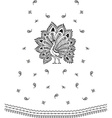 Paisley mehndi floral design vector image vector image