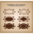 retro banners on parchment vector image