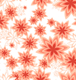 Seamless pattern geometric flower peach vector image vector image