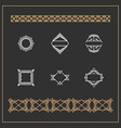set art decorative geometric logos and borders vector image