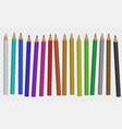 set color pencil vector image vector image