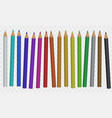 set of color pencil vector image