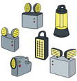 set of emergency light vector image vector image